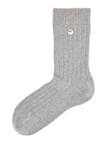 Ted Baker Cashmere ankle socks with button detail
