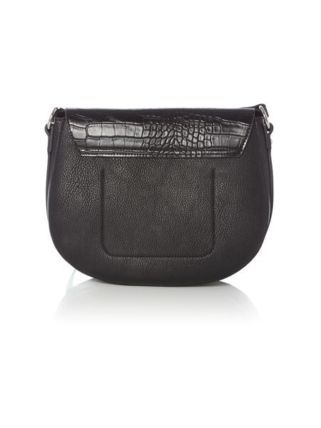 Pieces black snake saddle bag