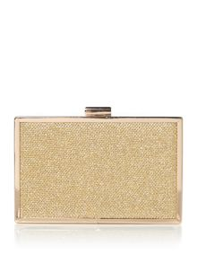 Pieces Box clutch bag with chain