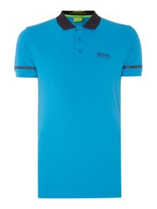 Hugo Boss Golf paule pro logo tape sleeve polo shirt