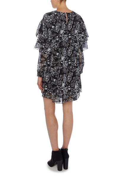 Lost Ink Long Sleeved Printed Dress