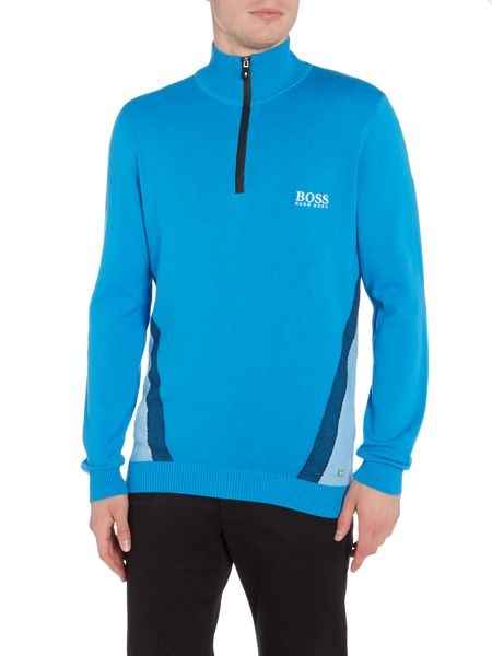 Hugo Boss Golf zelchior half zip funnel neck jumper