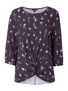 Therapy Tobyn Print Twist Detail Top