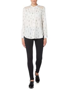 Therapy Laurie Lace Shoulder Print Blouse