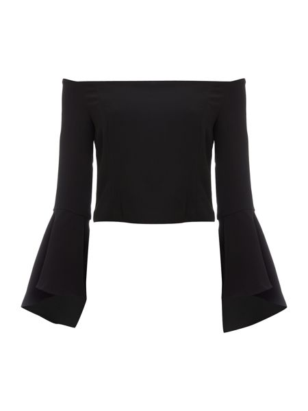 Bardot Bell Sleeved Bustier Top