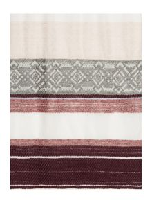 Dickins & Jones Textured Multi Stripe Scarf
