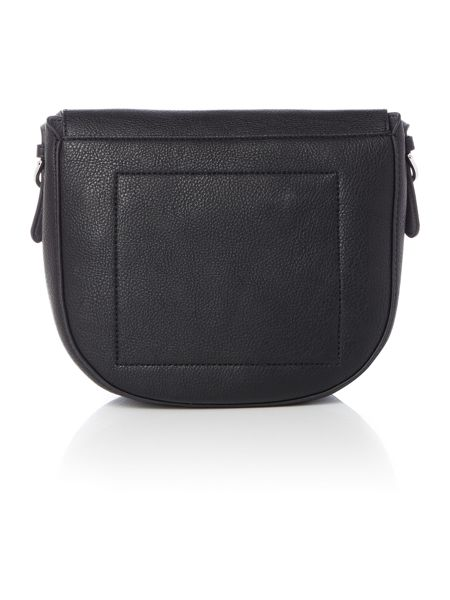 Tommy Hilfiger Core Black Medium Saddle Crossbody