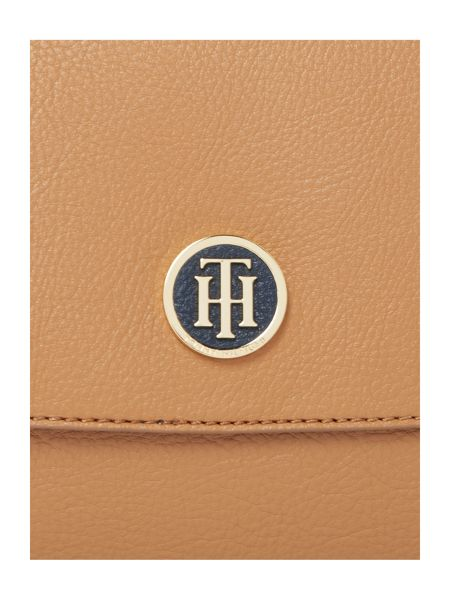 Tommy Hilfiger Core Neutral Medium Flap Crossbody Bag
