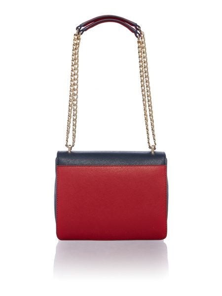 Tommy Hilfiger Turnlock Multicolour Medium Crossbody Bag