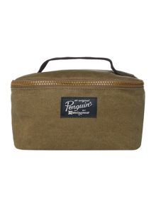 Original Penguin Waxed Canvas Washbag