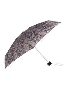 Fulton Tiny visual rotary leopard print umbrella