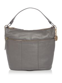 Tommy Hilfiger Signature Grey Hobo Bag