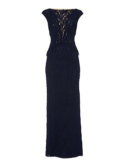 Leilana lace embellished gown