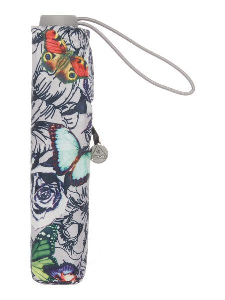 Fulton Superslim butterfly and roses umbrella