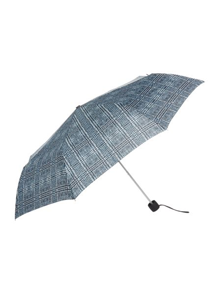 Fulton Minilite monogram tweed umbrella