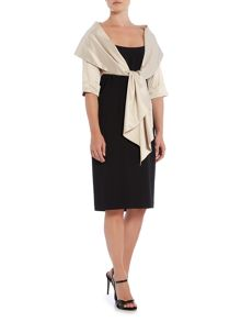 Adrianna Papell Satin Wrap Jacket