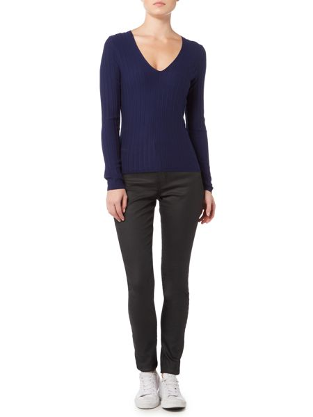 InWear Ribbed v-neck jumper