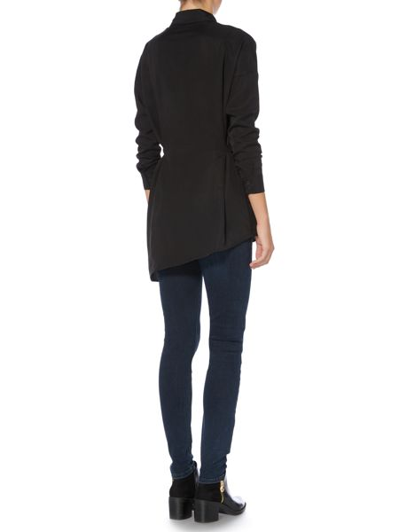 Label Lab Emerson black knotted shirt