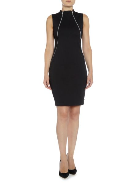 Calvin Klein Dia sleeveless fitted ponte dress
