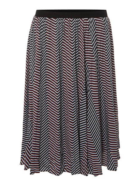 Therapy Amelie Geo Print Pleated Skirt