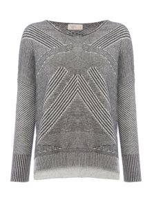Label Lab Malo grey lizard lines jumper