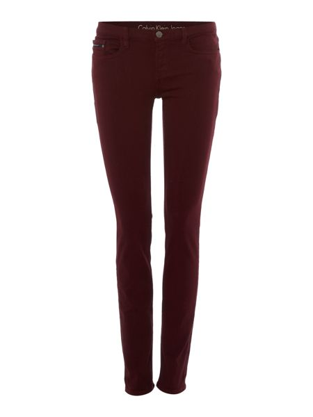 Calvin Klein Mid rise skinny stretch twill jean