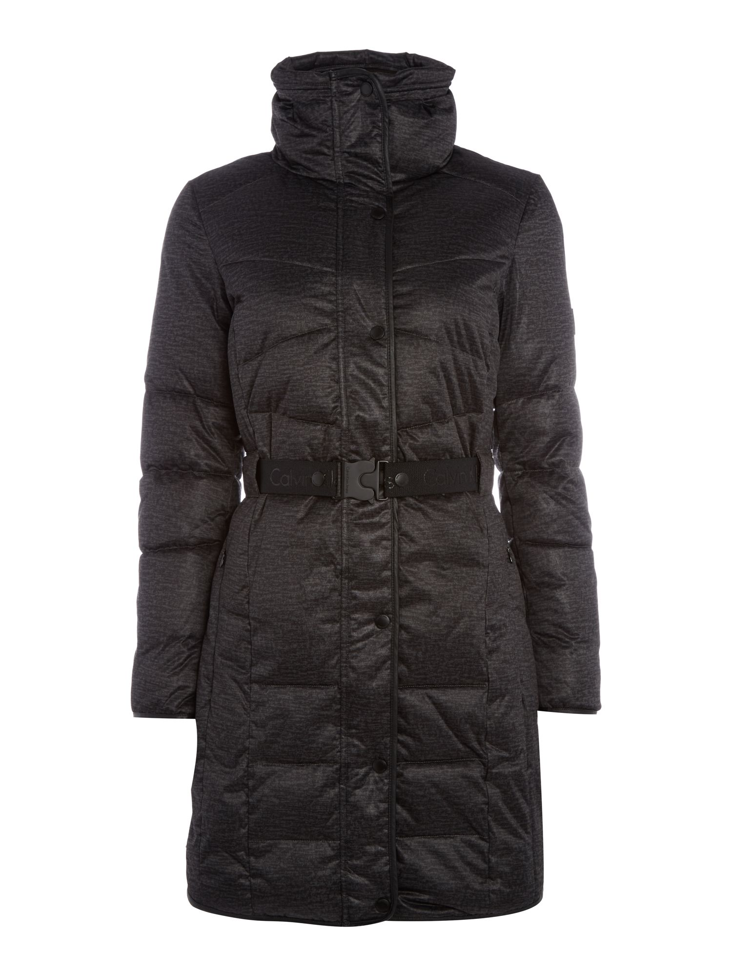 Calvin Klein Orla Long Fitted Padded Jacket, Black