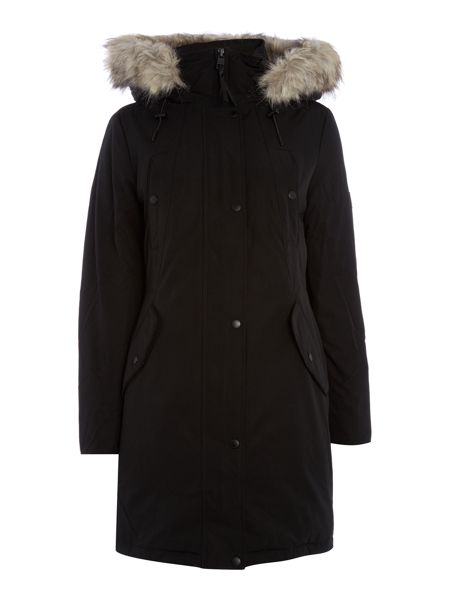 Calvin Klein Olympia mix down long coat