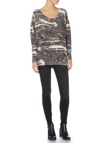 Label Lab Albany charcoal cactus print jumper