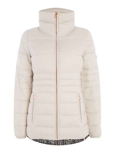 Calvin Klein Opera Down Fitted Mid Length Jacket