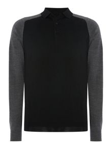 Gant Diamond G Merino Knitted Long Sleeve Polo