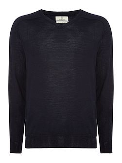 Diamond G Extra-Fine Merino V-Neck Jumper