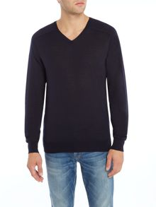 Gant Diamond G Extra-Fine Merino V-Neck Jumper
