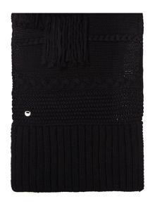 UGG Cable knit fringe scarf