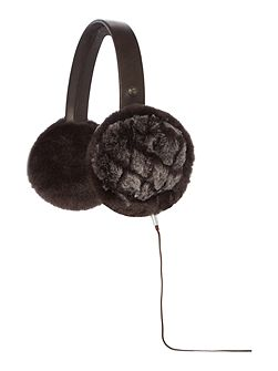 Quilted wired sheepskin earmuff