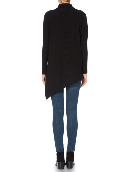 Label Lab Elmore black lattice roll neck jumper