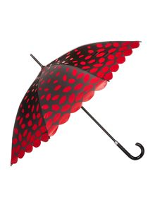 Lulu Guinness Laser cut scalloped edge umbrella