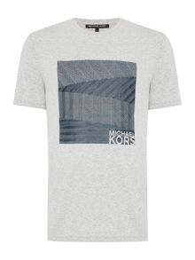 Michael Kors Textured herringbone graphic t shirt