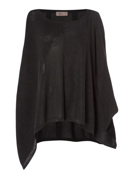Label Lab Sahara charcoal patchwork poncho