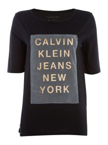 Calvin Klein Trix-3 tright fit tee jersey top