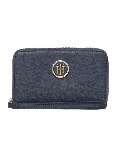 Tommy Hilfiger Honey navy medium ziparound purse