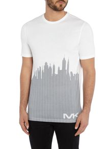 Michael Kors Sky line graphic print t shirt