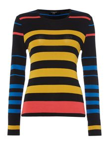 Therapy Nori Sheer Multi Stripe Jumper