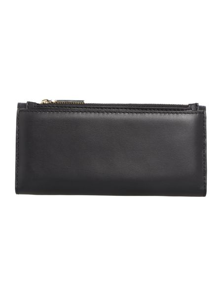 Tommy Hilfiger Smooth leather black large flapover purse