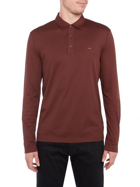 Michael Kors Slim fit sleek long sleeve mk logo polo