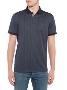 Michael Kors Slim fit dot diamond print polo shirt