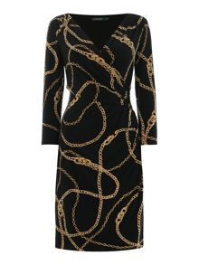 Lauren Ralph Lauren Rachita Chain Print Dress