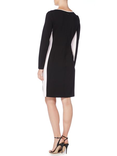 Lauren Ralph Lauren Contrast panel long sleeve dress