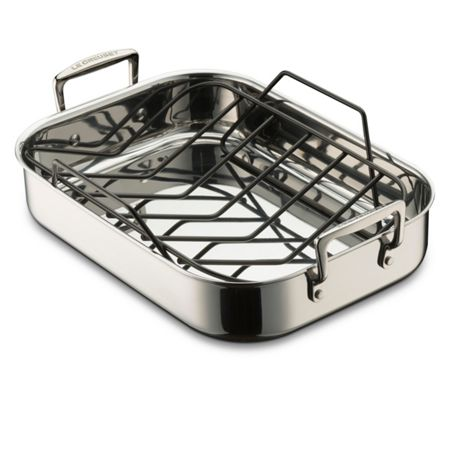 Le Creuset 3Ply Stainless Steel 35cm Roaster & Free Rack