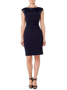 Lauren Ralph Lauren Cynthiette 2 Tone Dress